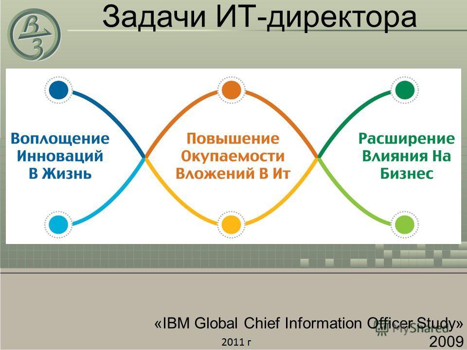 Задачи ИТ-директора «IBM Global Chief Information Officer Study» 2009