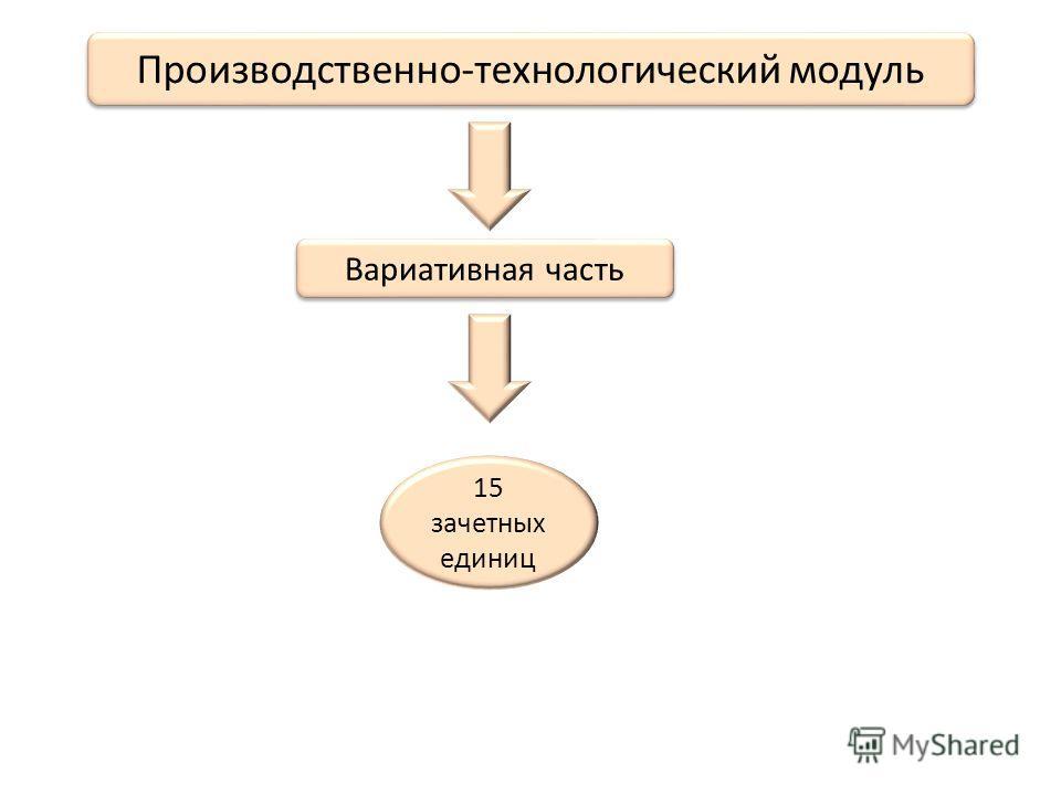 Производственно-технологический модуль Вариативная часть 15 зачетных единиц