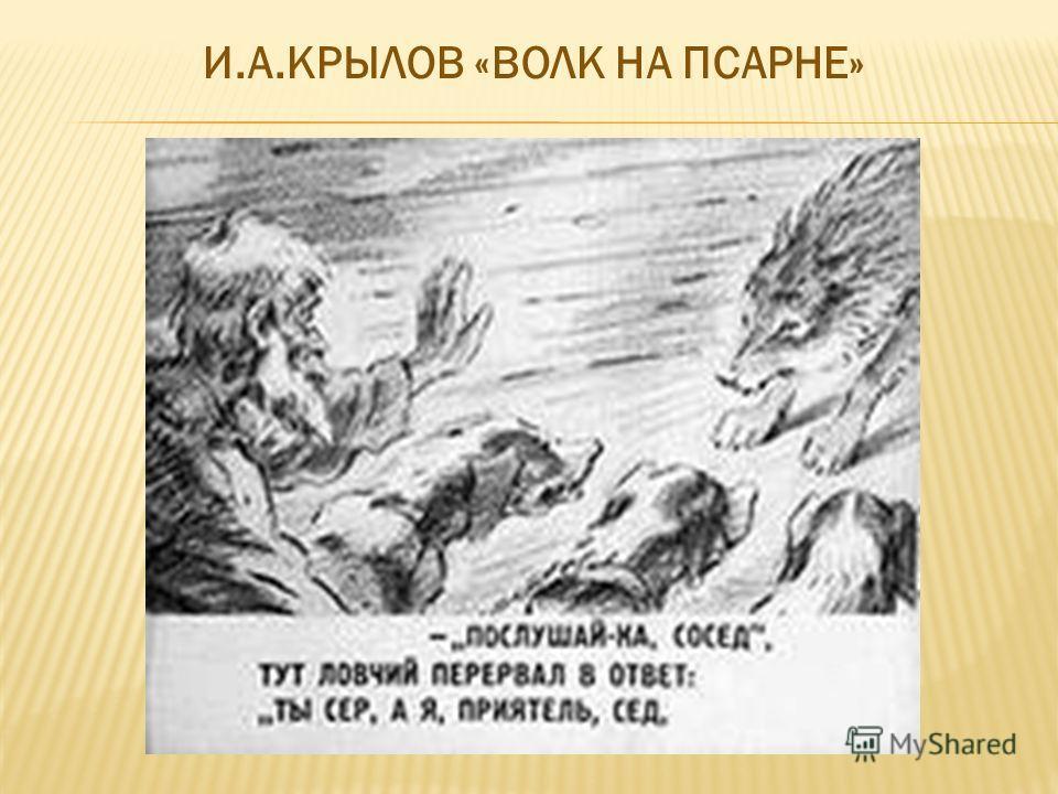 И.А.КРЫЛОВ «ВОЛК НА ПСАРНЕ»
