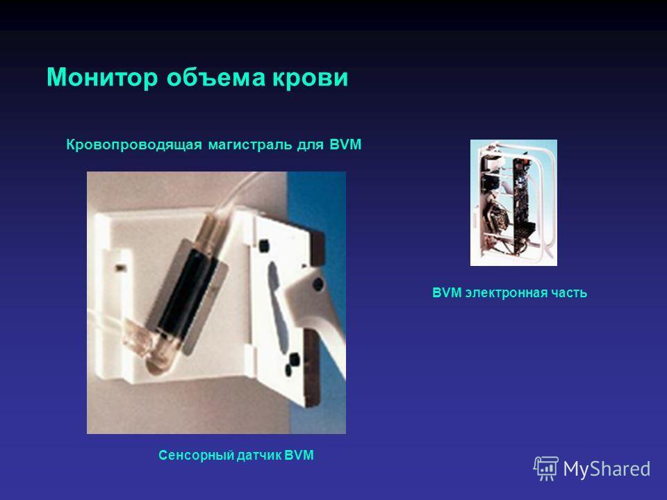 Монитор объема крови Сенсорный датчик BVM BVM электронная часть Кровопроводящая магистраль для BVM