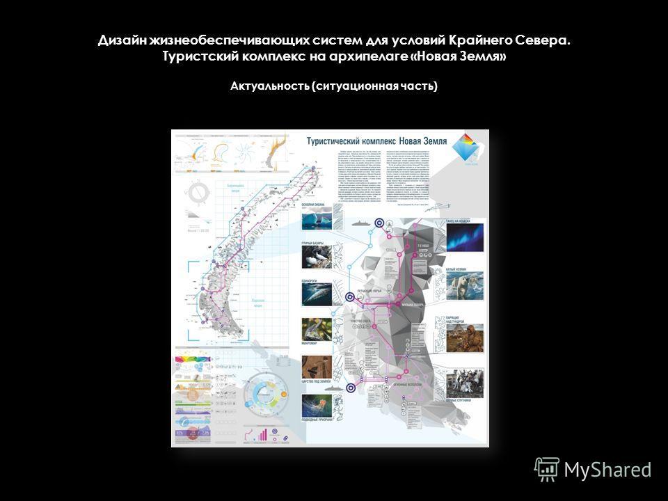 Дизайн жизнеобеспечивающих систем для условий Крайнего Севера. Туристский комплекс на архипелаге «Новая Земля» Актуальность (ситуационная часть)