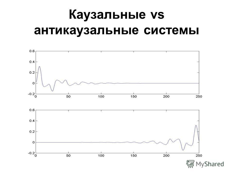 Каузальные vs антикаузальные