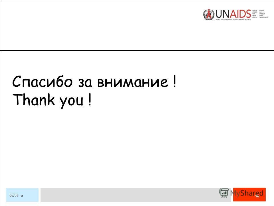 16 06/06 e Спасибо за внимание ! Thank you !