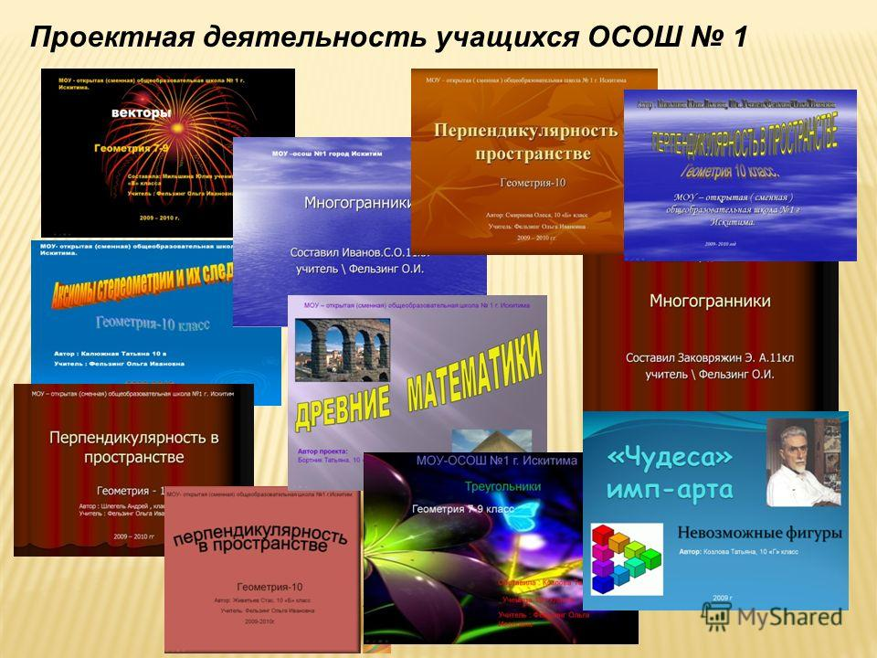 Проектная деятельность учащихся ОСОШ 1