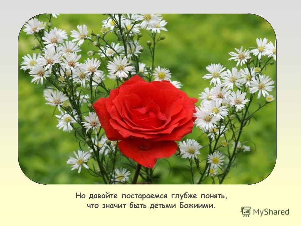 Нужно принять Его в вере и в любви, веруя в Иисуса как нашего Спасителя.