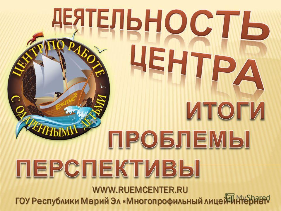 ГОУ Республики Марий Эл «Многопрофильный лицей-интернат» WWW.RUEMCENTER.RU