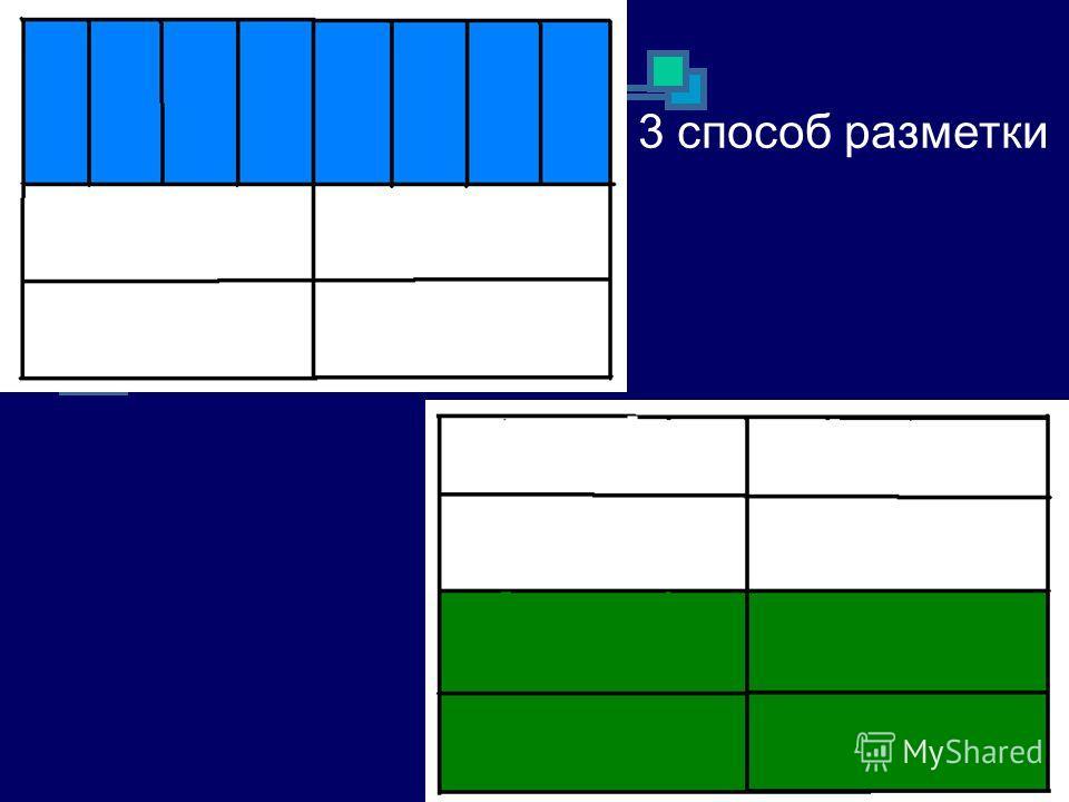 3 способ разметки