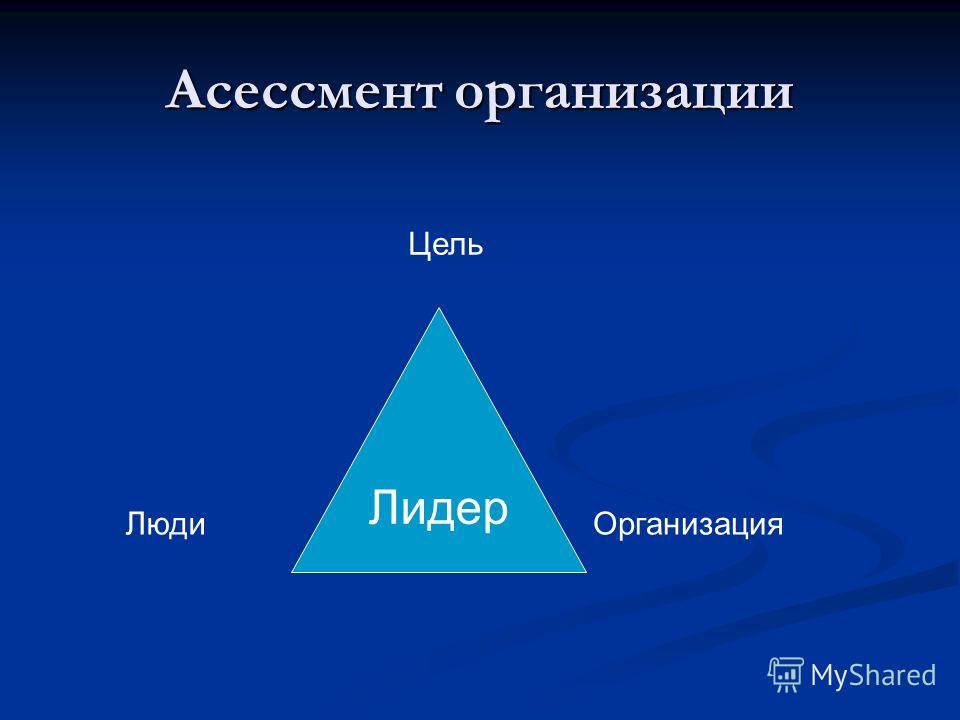 Асессмент организации Лидер ЛюдиОрганизация Цель