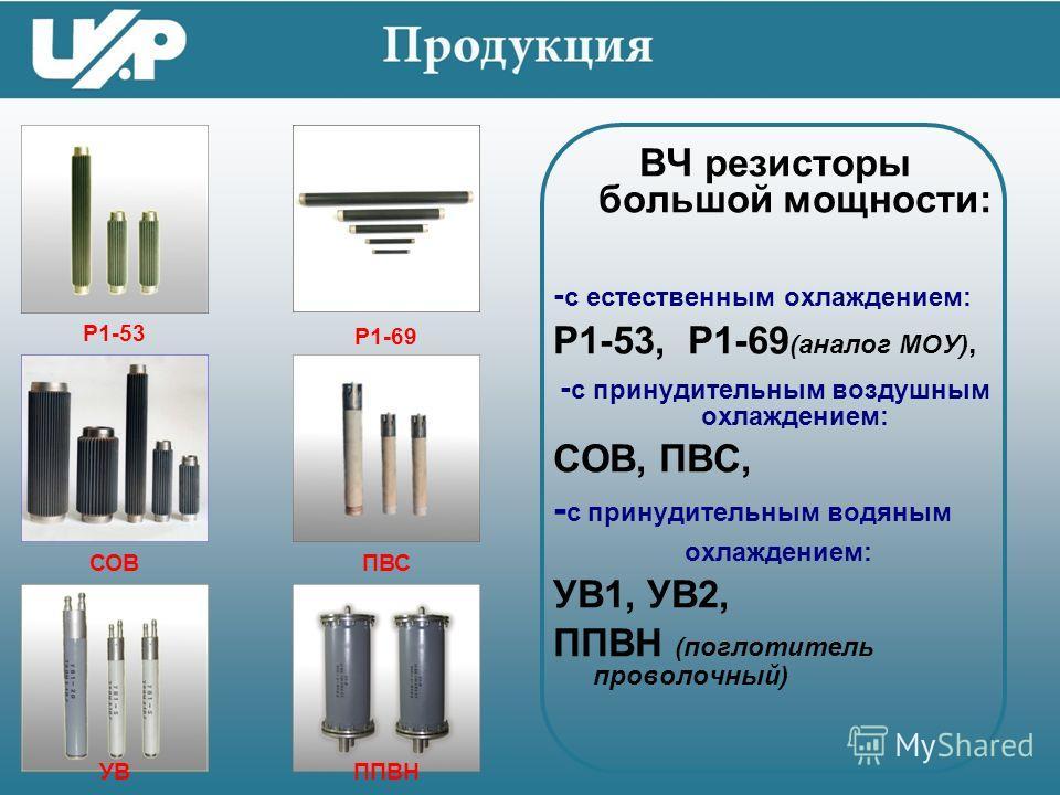 ВЧ поглотители малой мощности: (СВЧ чип-поглотители), ПР1-1, ПР1-И3, С6-8, П2-4 ПР1-1ПР1-И3 С6-8П2-4