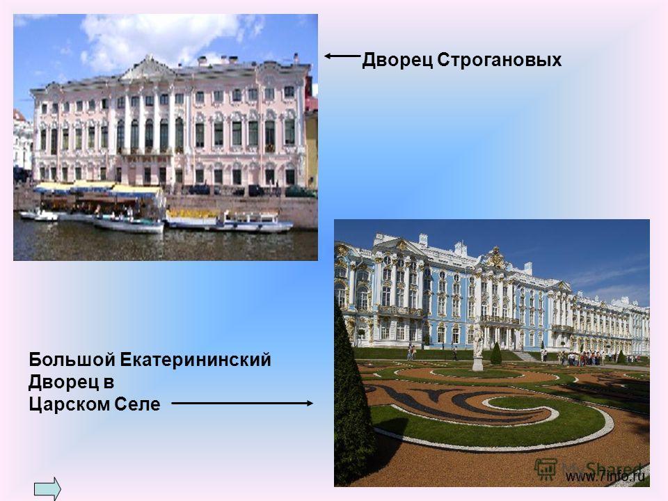 Большой Екатерининский Дворец в Царском Селе Дворец Строгановых