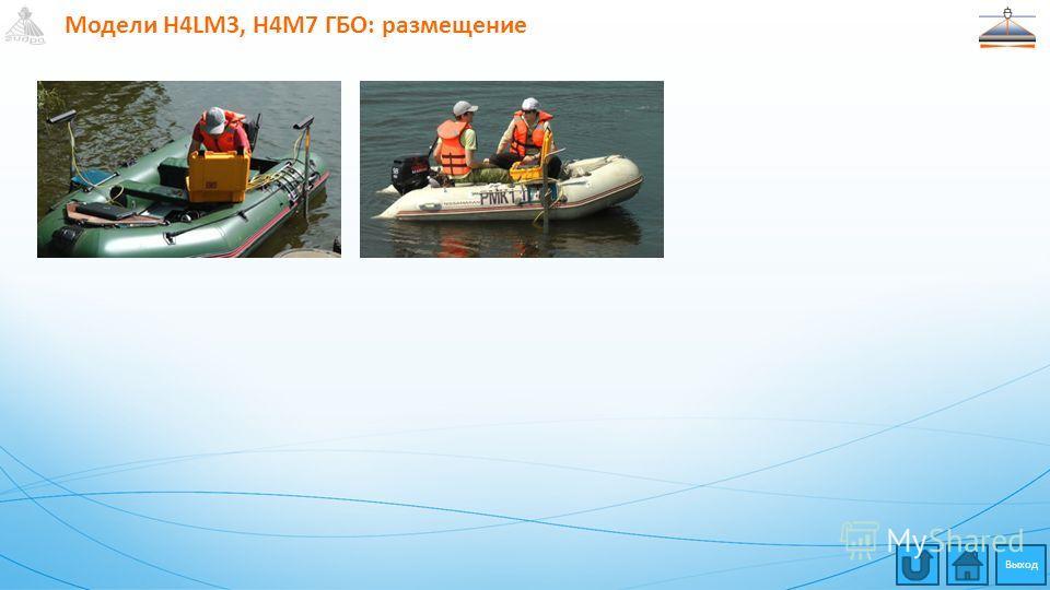 Модели H4LM3, H4M7 ГБО: размещение