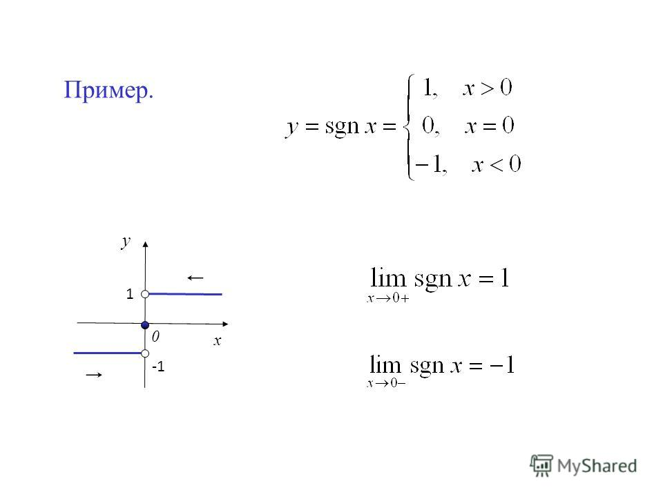 Пример. у х 0 1