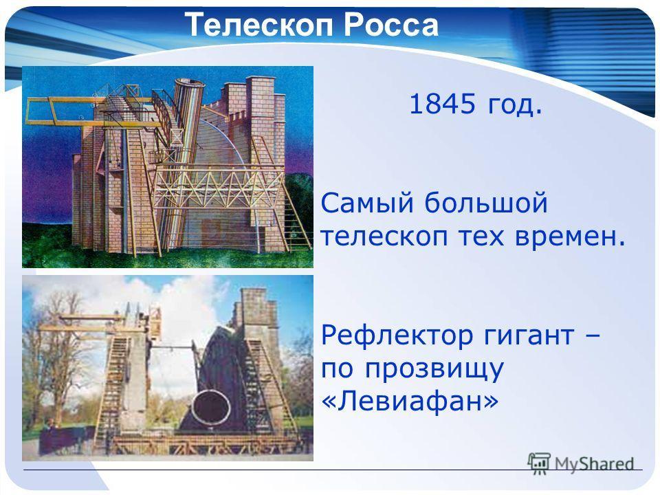 Телескоп Росса 1845 год. Самый большой телескоп тех времен. Рефлектор гигант – по прозвищу «Левиафан»