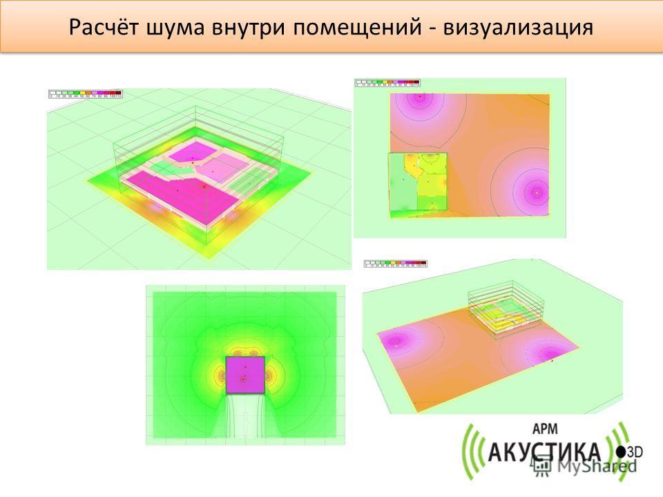 Расчёт шума внутри помещений - визуализация