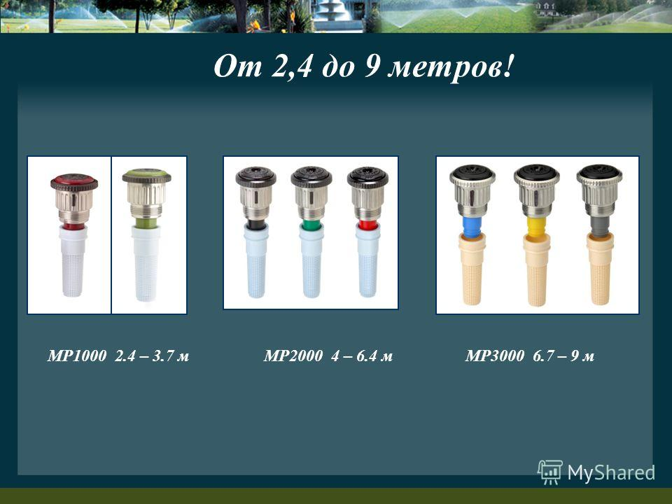 От 2,4 до 9 метров! MP1000 2.4 – 3.7 мMP2000 4 – 6.4 мMP3000 6.7 – 9 м