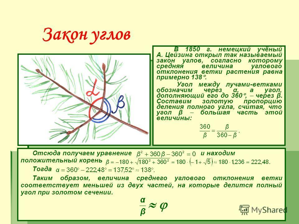 Пентаграмма Пентаграмма представляет собой вместилище золотых пропорций! Интересно, что внутри пятиугольника можно продолжить строить пятиугольники и золотые отношения будут сохраняться.