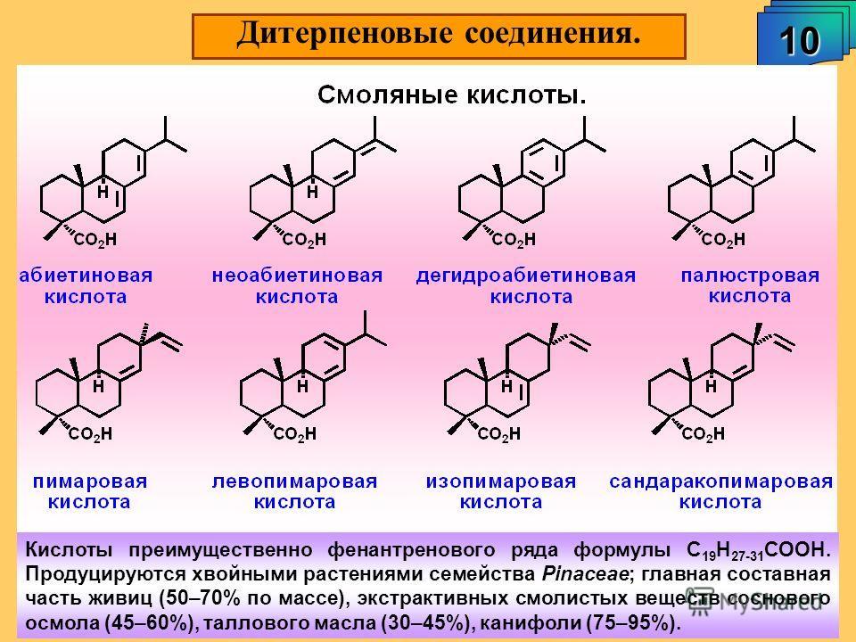 Дитерпеновые соединения. 10 А.М. Чибиряев