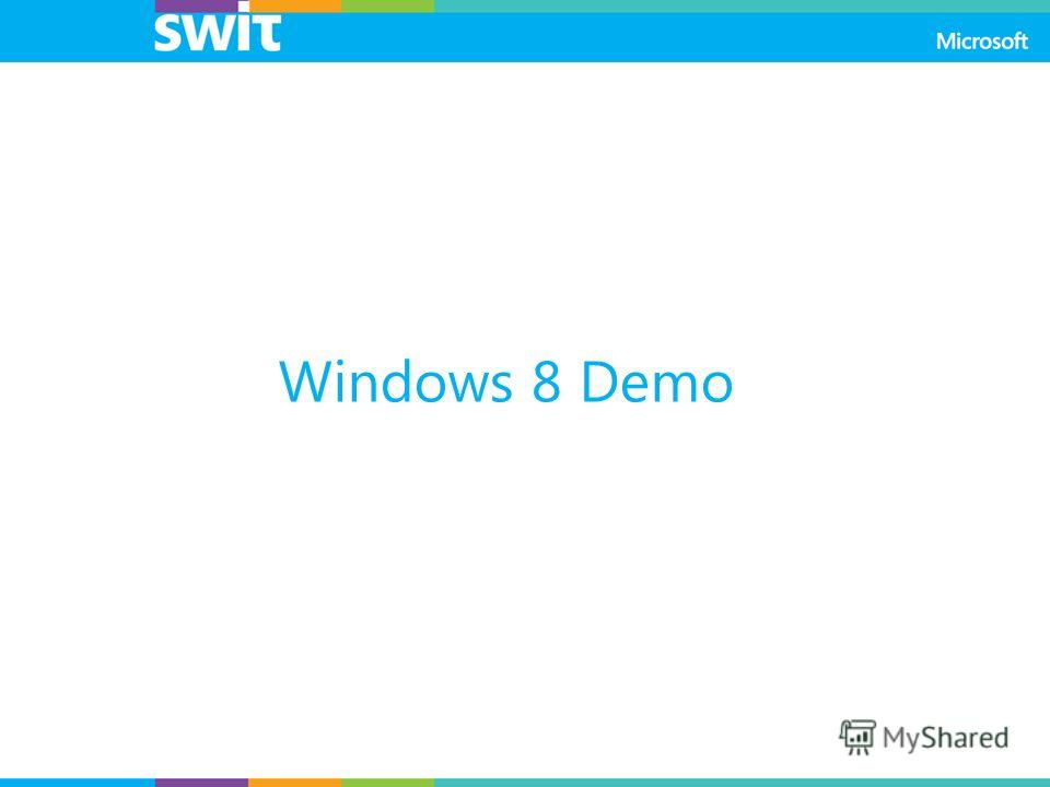 Windows 8 Demo