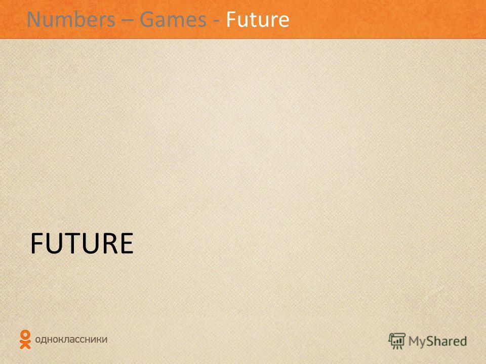 Numbers – Games - Future FUTURE