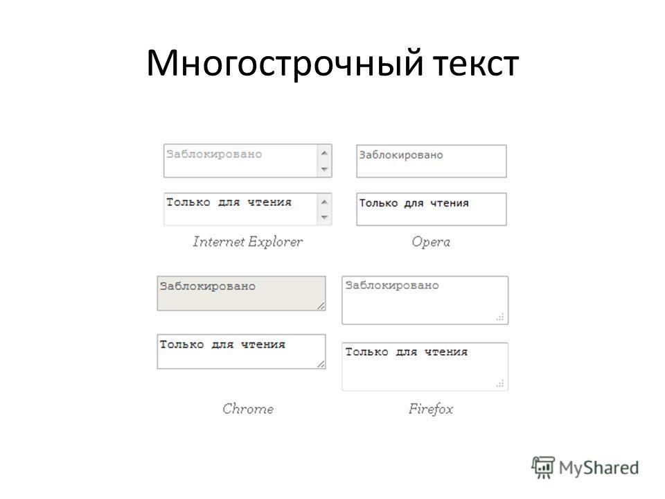 Многострочный текст