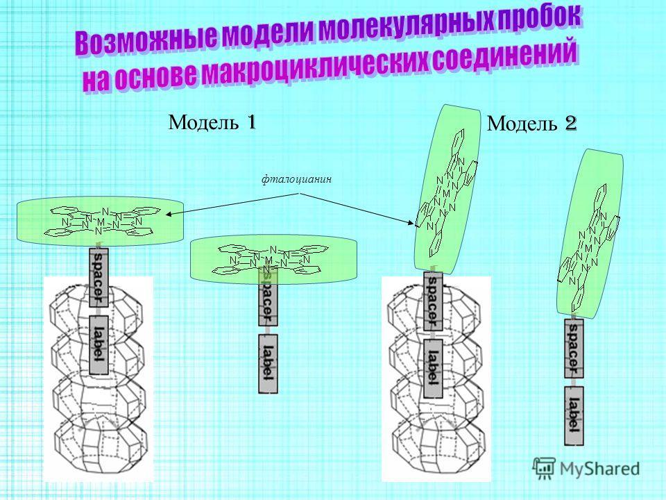 Модель 1 Модель 2 фталоцианин