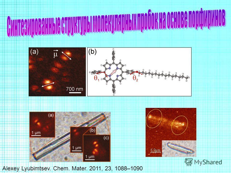 Alexey Lyubimtsev. Chem. Mater. 2011, 23, 1088–1090