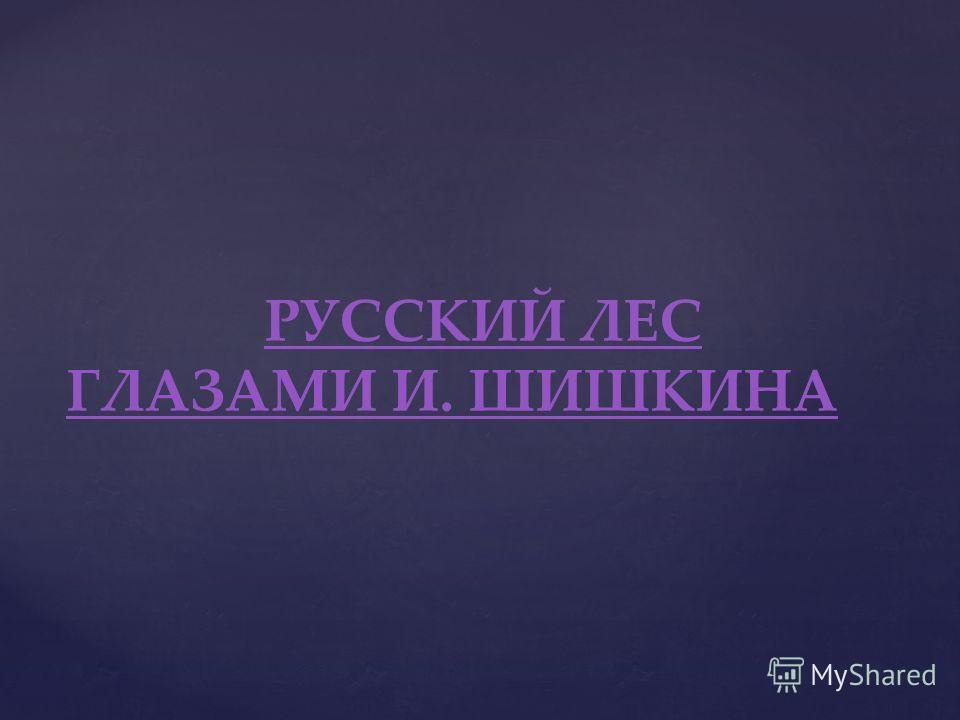 РУССКИЙ ЛЕС ГЛАЗАМИ И. ШИШКИНА