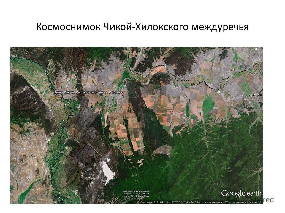 Космоснимок Чикой-Хилокского междуречья
