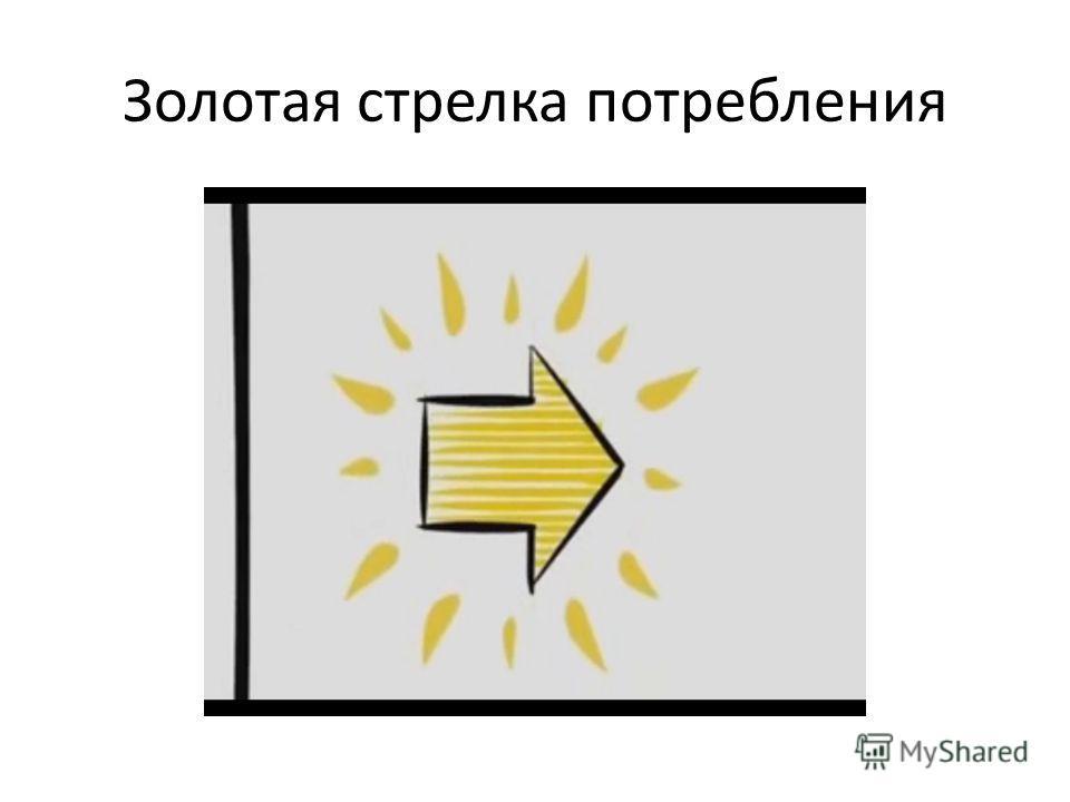 Золотая стрелка потребления