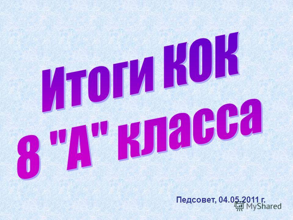 Педсовет, 04.05.2011 г.