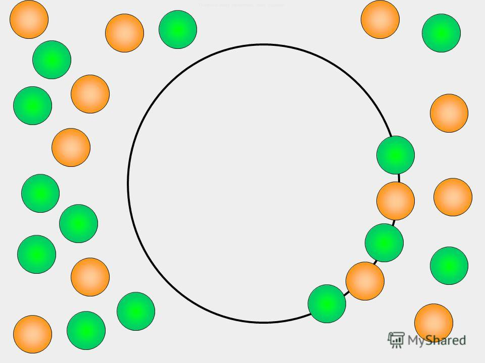 Это чёрные квадраты и белые круги.