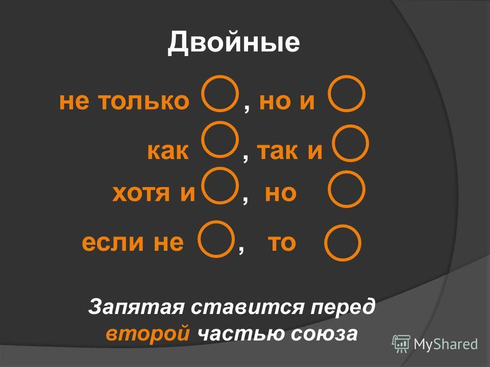 Двойные не только, но и как, так и хотя и, но если не, то Запятая ставится перед второй частью союза