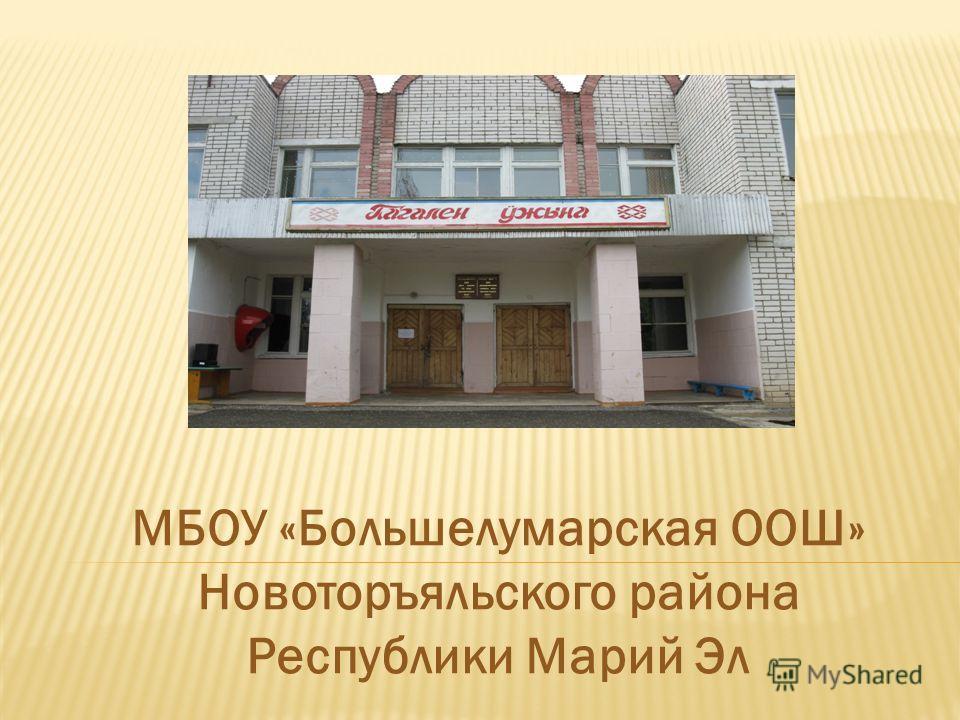МБОУ «Большелумарская ООШ» Новоторъяльского района Республики Марий Эл
