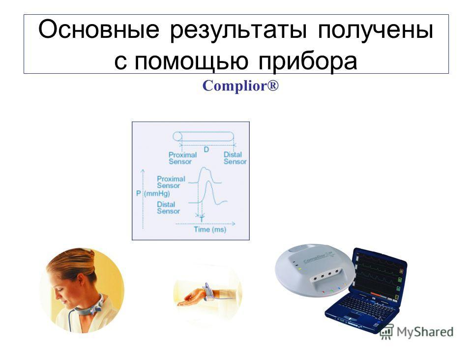Основные результаты получены с помощью прибора Complior®