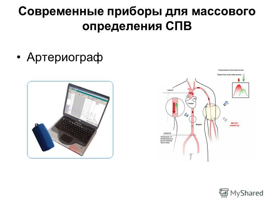 Современные приборы для массового определения СПВ Артериограф