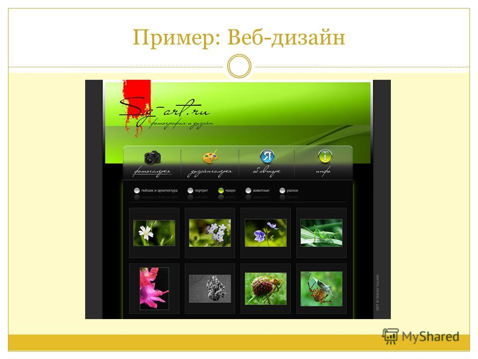 Пример: Веб-дизайн