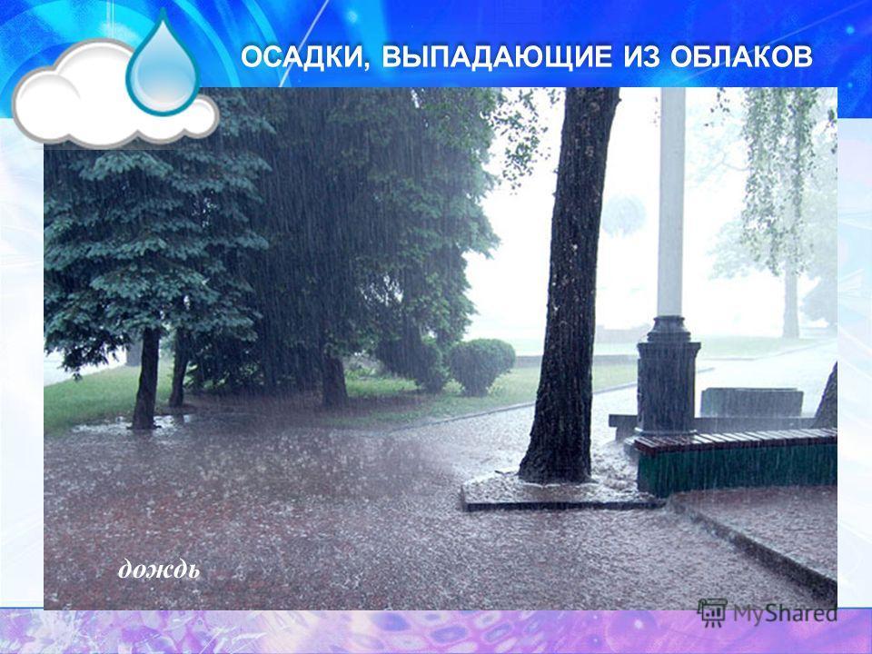 ОСАДКИ, ВЫПАДАЮЩИЕ ИЗ ОБЛАКОВ дождь