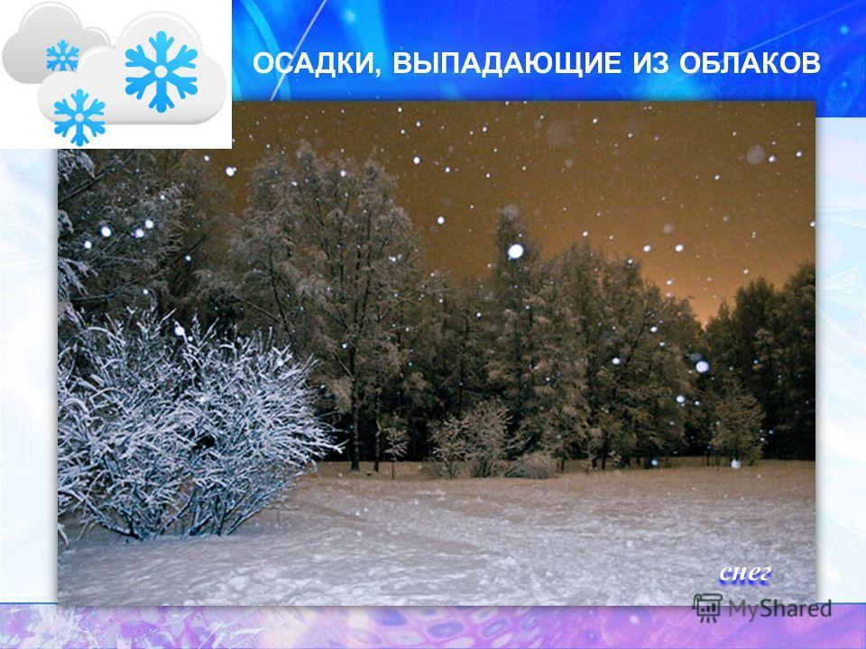 ОСАДКИ, ВЫПАДАЮЩИЕ ИЗ ОБЛАКОВ снег