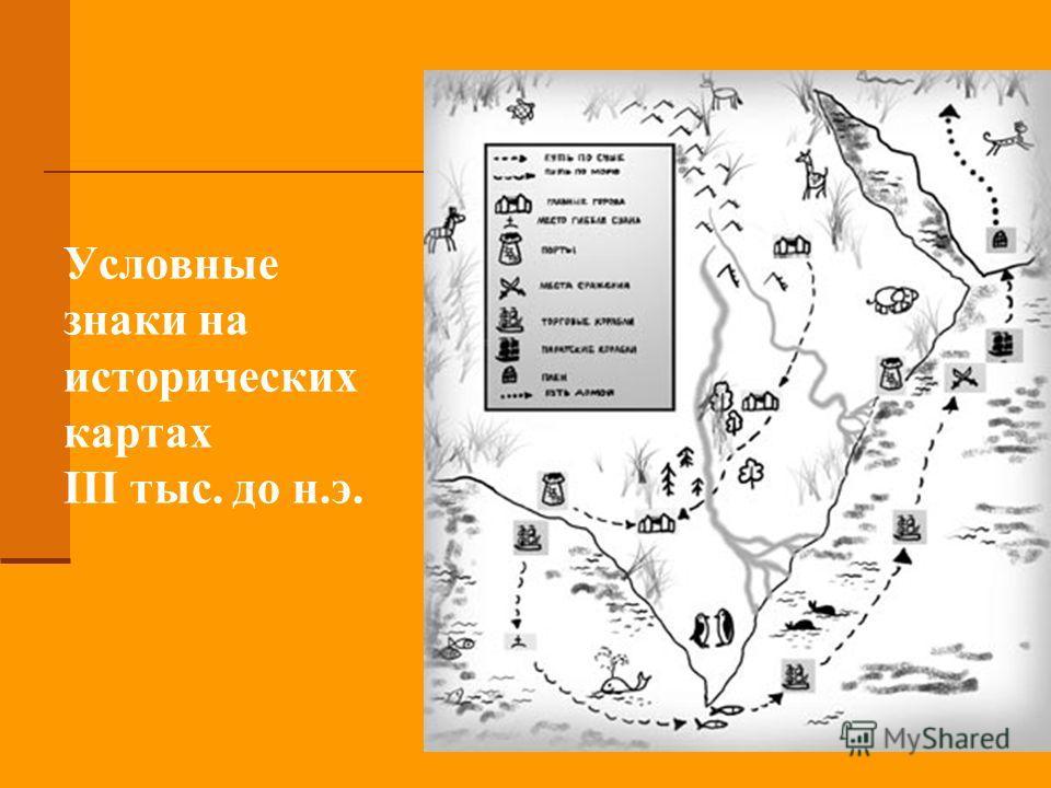 Условные знаки на исторических картах III тыс. до н.э.