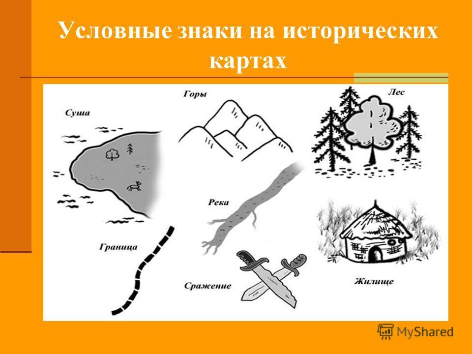 Условные знаки на исторических картах