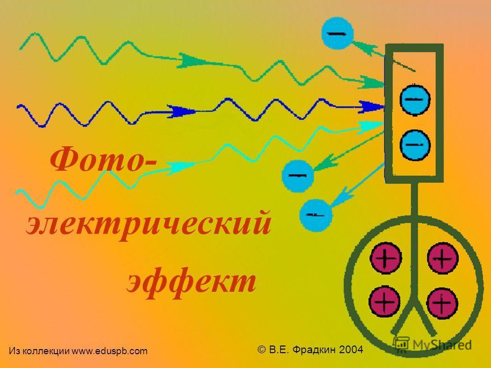 Фото- электрический эффект © В.Е. Фрадкин 2004 Из коллекции www.eduspb.com