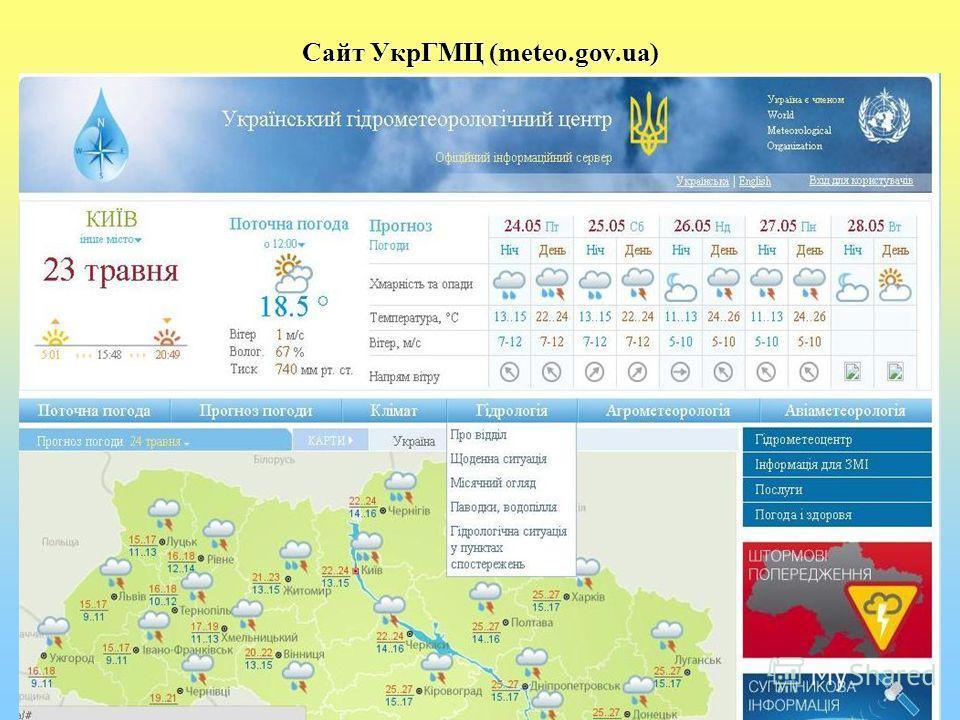 Сайт УкрГМЦ (meteo.gov.ua)