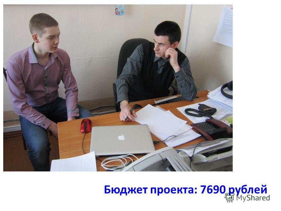 Бюджет проекта: 7690 рублей