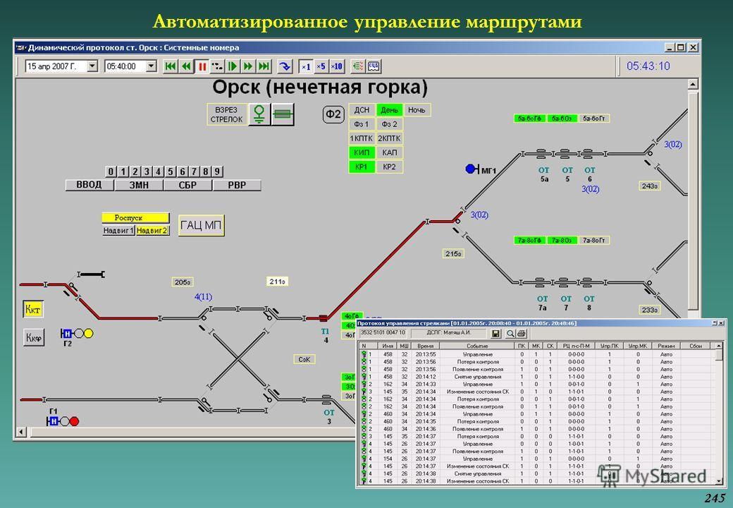 Автоматизированное управление маршрутами 245