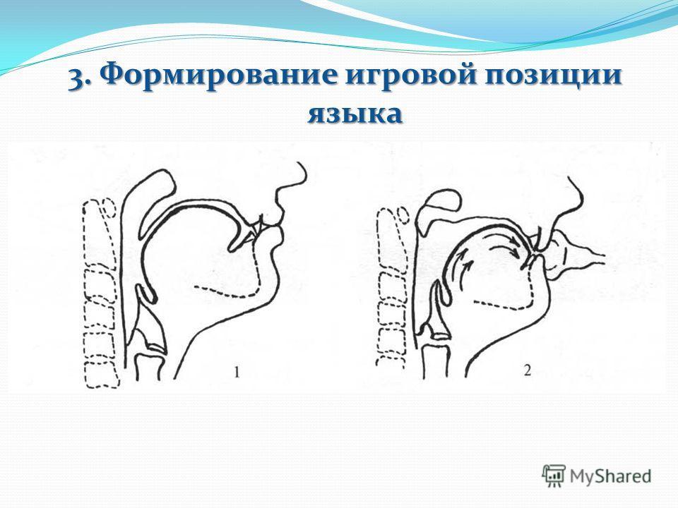 3. Формирование игровой позиции языка