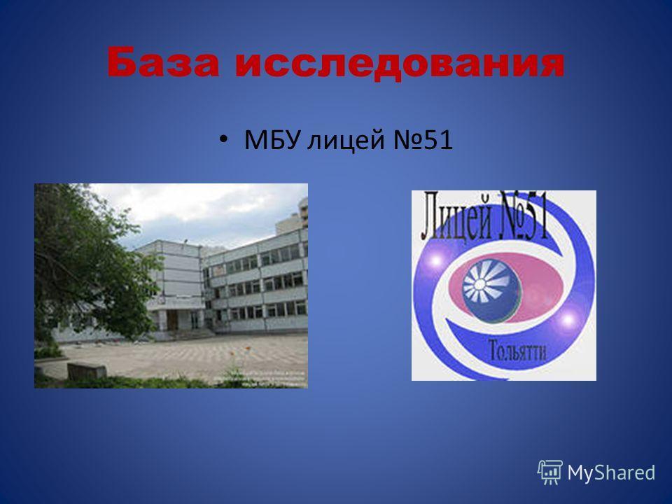 База исследования МБУ лицей 51