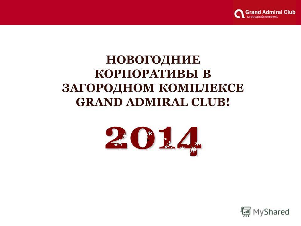 2014 НОВОГОДНИЕ КОРПОРАТИВЫ В ЗАГОРОДНОМ КОМПЛЕКСЕ GRAND ADMIRAL CLUB!