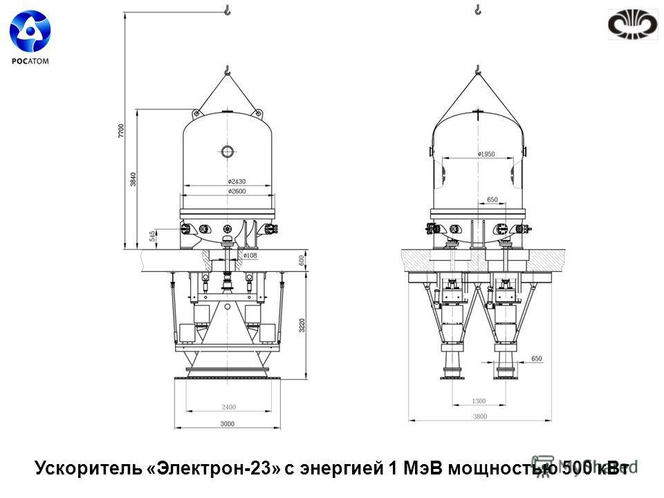 Ускоритель «Электрон-23» с энергией 1 МэВ мощностью 500 кВт