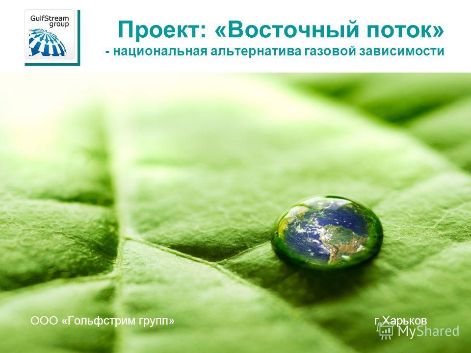 Проект: «Восточный поток» - национальная альтернатива газовой зависимости ООО «Гольфстрим групп» г.Харьков