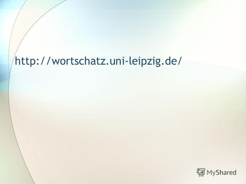 http://wortschatz.uni-leipzig.de/